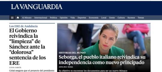 "Calatogna Seborga ""Principato"" italiano La Vanguardia"
